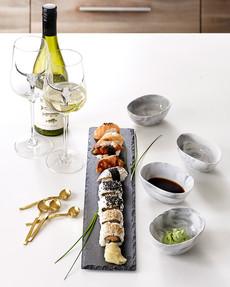 Luxury Kitchen Serveringsset med skifferbricka