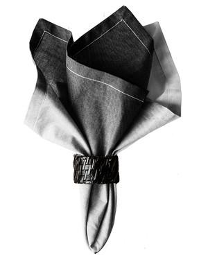 Malala Grå 4-pack + servettringar