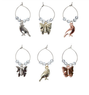 Wine charms 6-pack