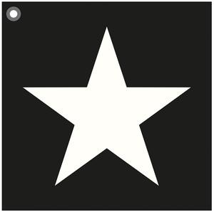 Kuddfodral Star Black