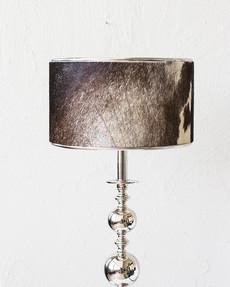 Alazka liten lampskärm getskinn Brun