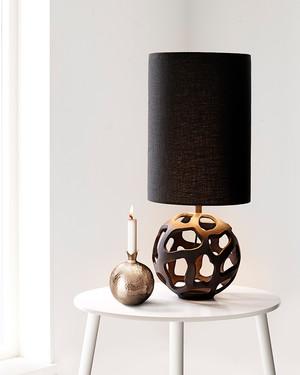 Lampfot Black Globe