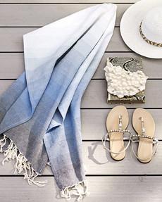 Handduk/duk Aqua stripe