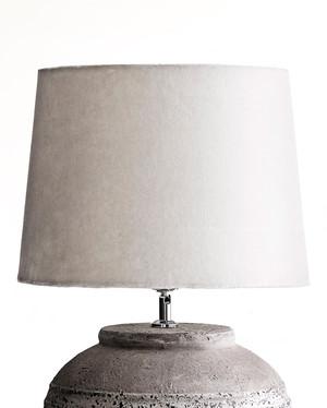 Stor lampskärm i sammet Vivienne Offwhite