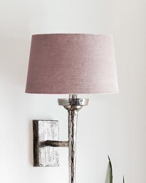 Liten lampskärm i sammet Vivienne Puder