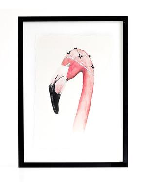 Tavla Pink Flamingo