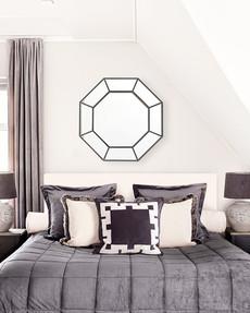 Spegel Art Deco svart